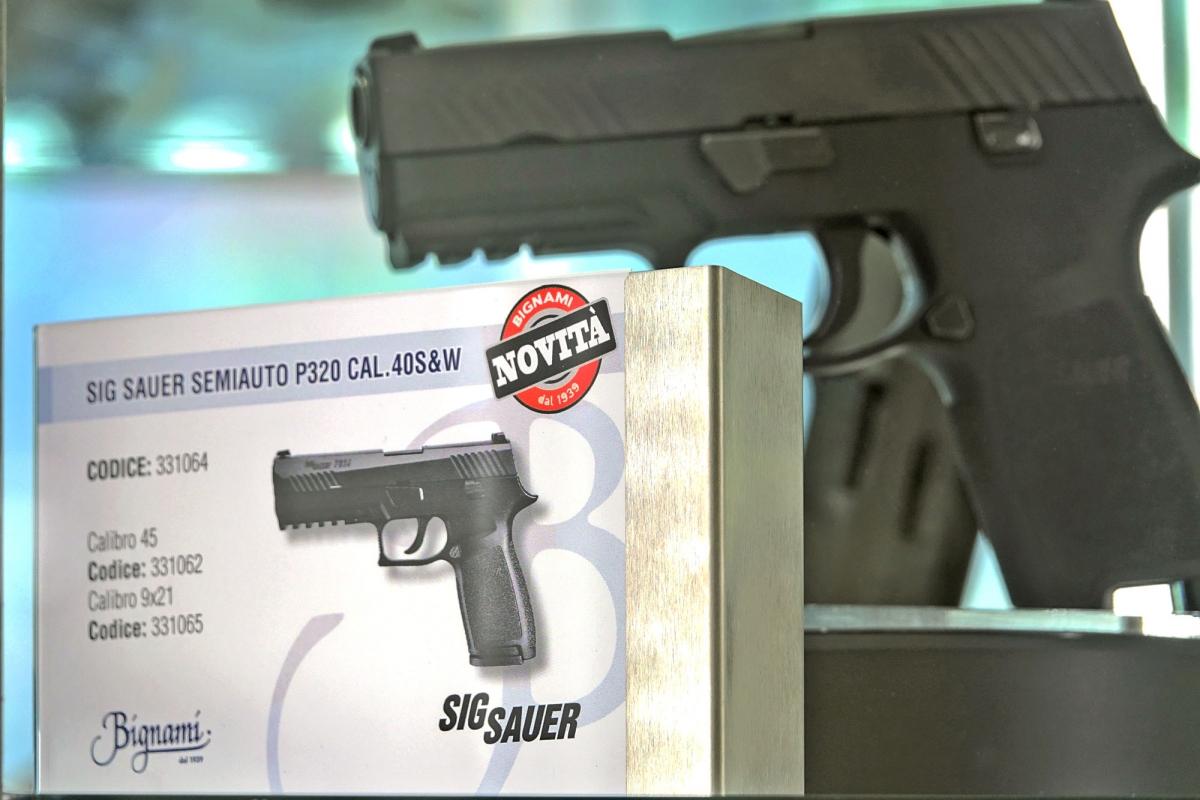 La Bignami S.p.A. di Ora (BZ) distribuisce in Italia la SIG Sauer P320
