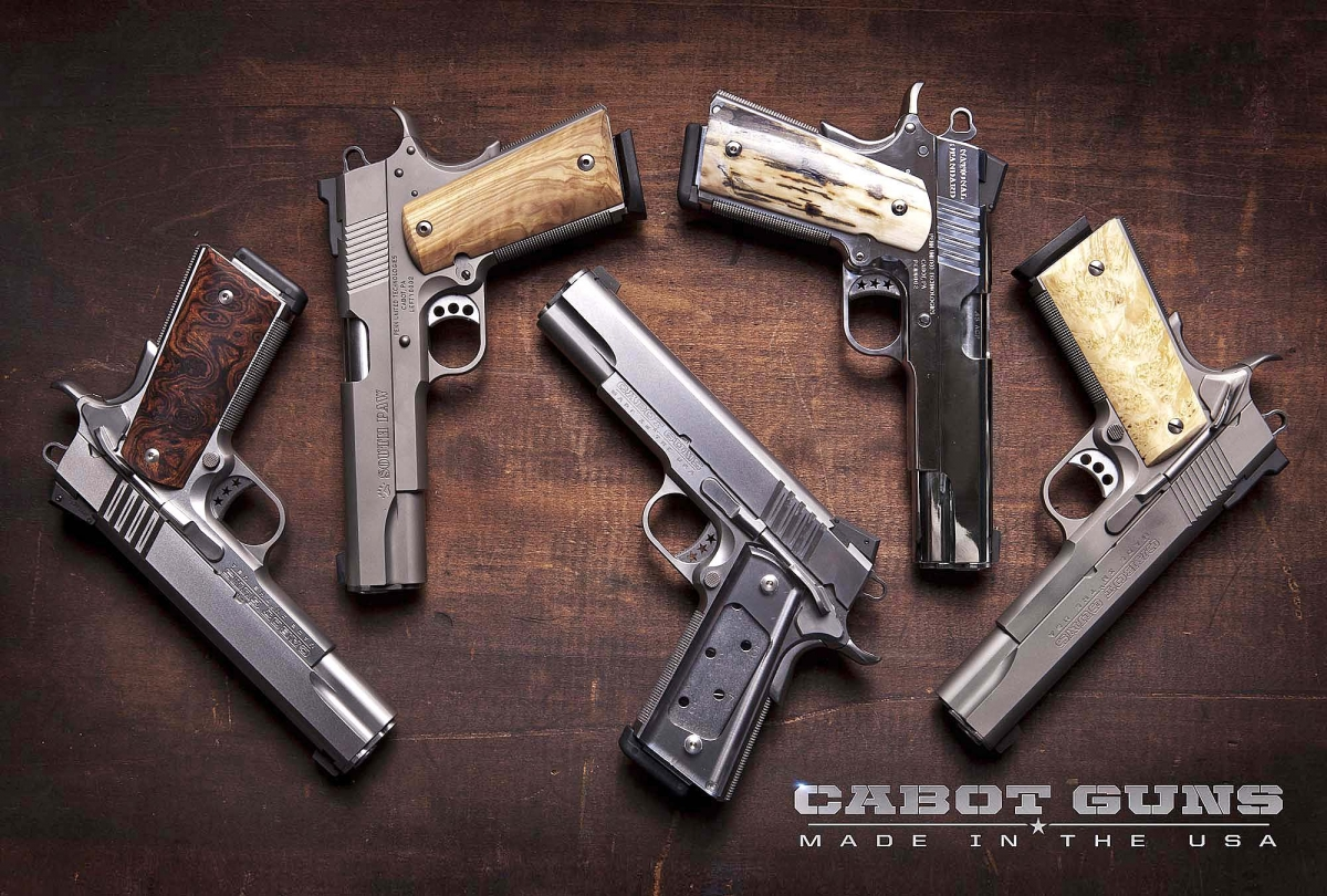 Italian-based Erredi Trading company will distribute the Cabot Guns 1911-style pistols in Europe!