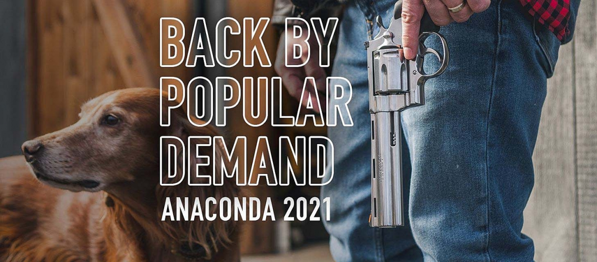 "The legendary Colt Anaconda revolver returns in 2021 in two versions, with 6"" and 8"" barrels"