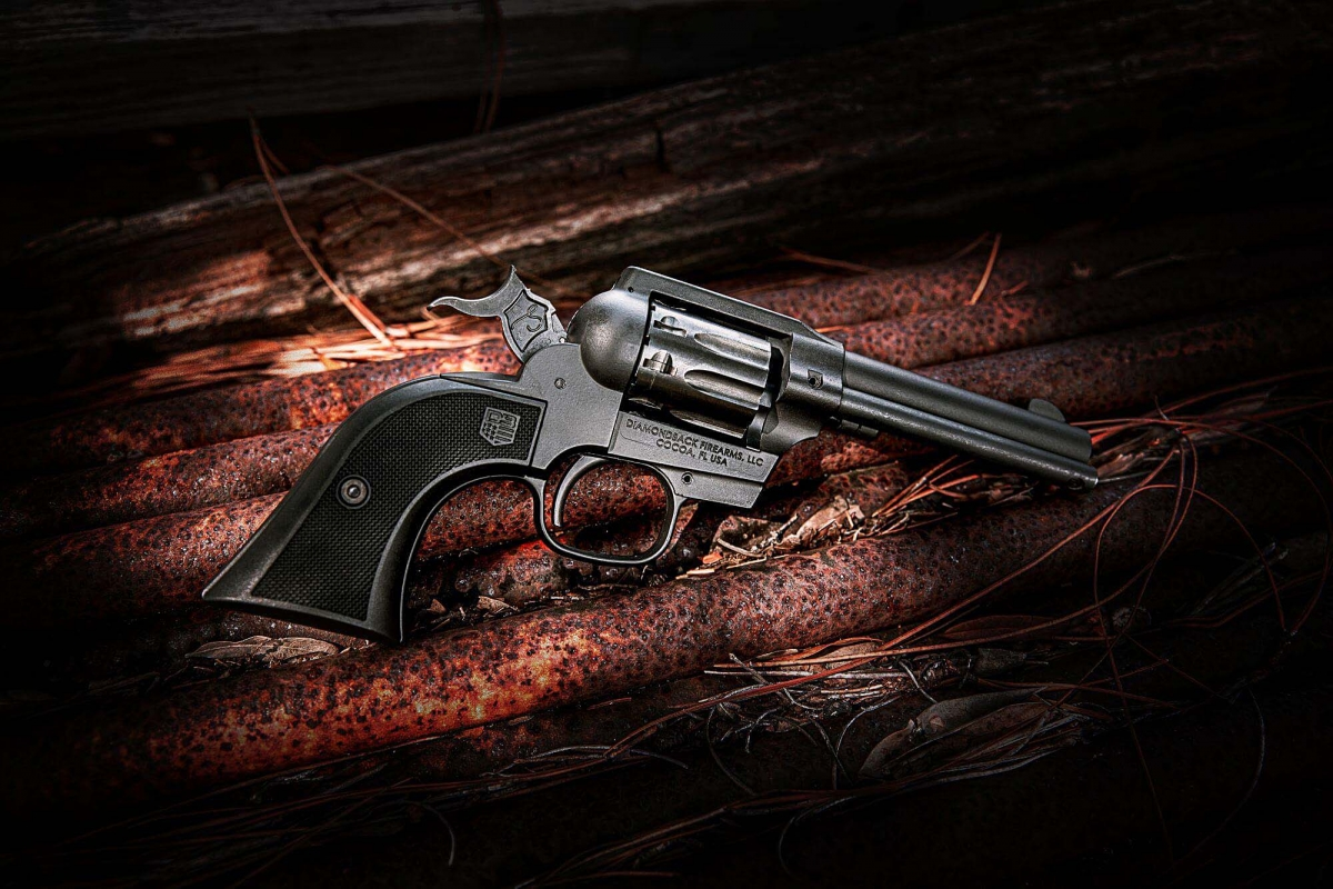 Diamondback Firearms' new Sidekick single-action/double-action revolver, with its interchangeable .22 Long Rifle and .22 WMR cylinders, will hit the stores in the US on November 22, 2021