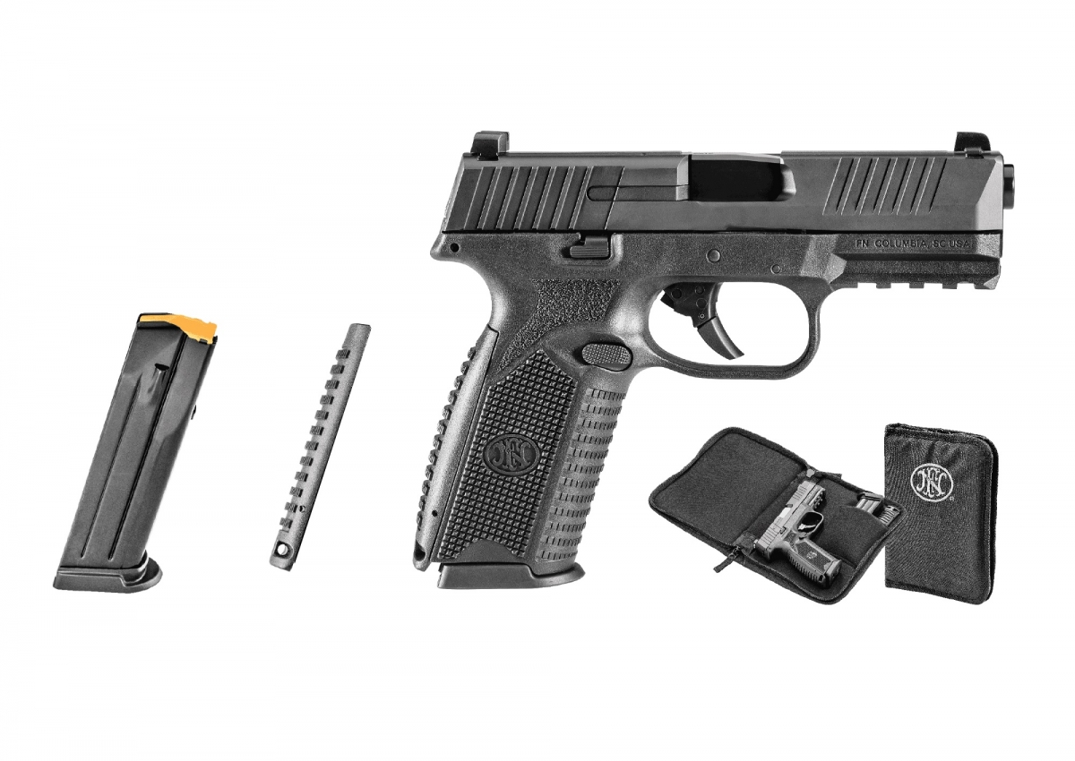 The FN 509 is sold in a soft pistol case with two interchangeable backstraps, two magazines, an owner's manual and a locking device