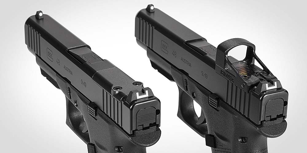 Glock G43X MOS and G48 MOS optics ready pistols