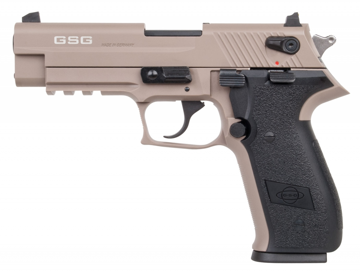 The GSG Firefly is available in black, desert tan and OD green variants