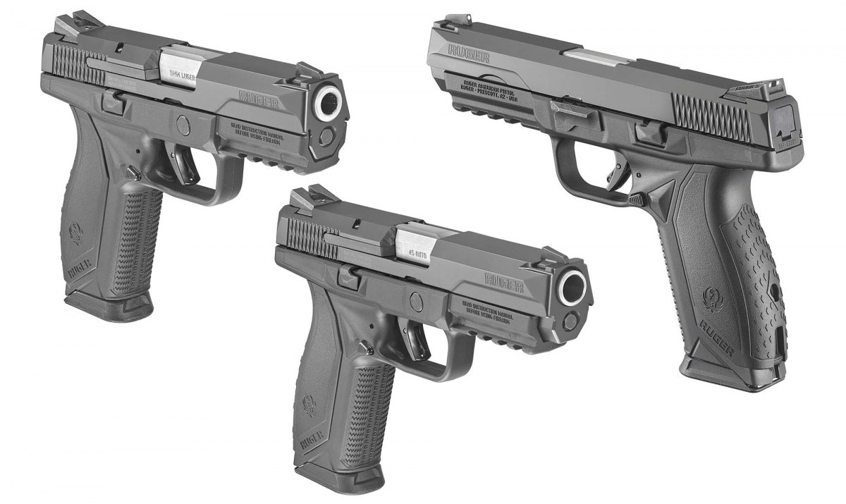 Ruger American Pistol comes in two calibers: 9mm and .45 ACP