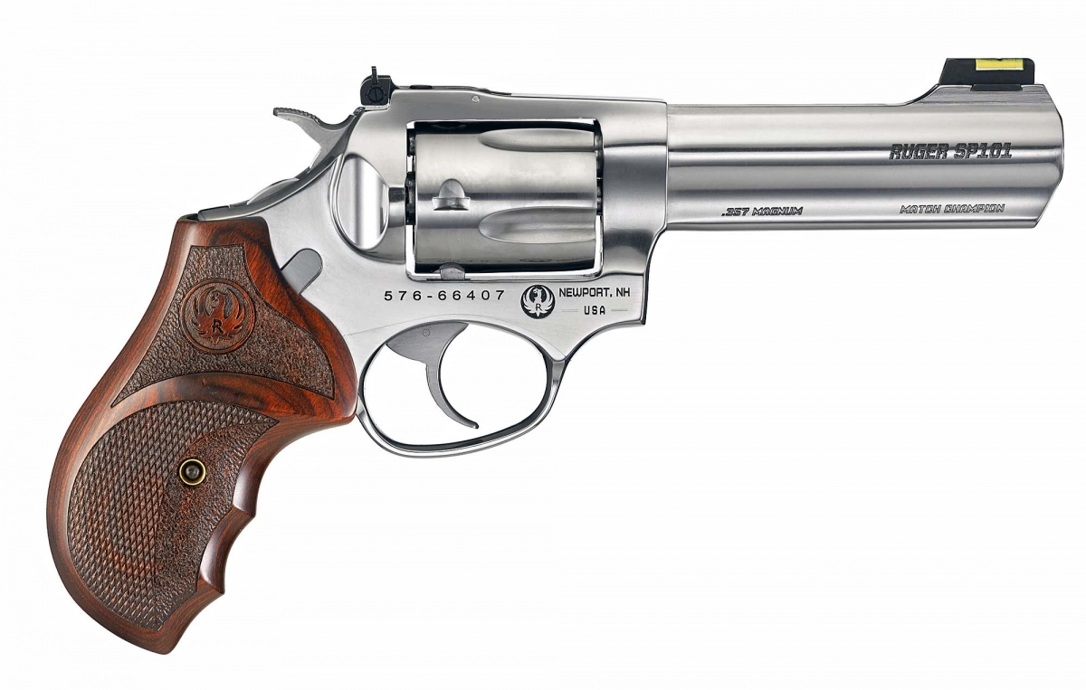 The Ruger SP101 Match Champion revolver, seen from the right side