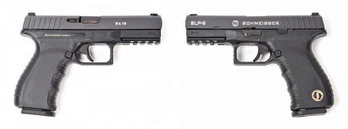 Side views of the Schmeisser SLP-9 pistol