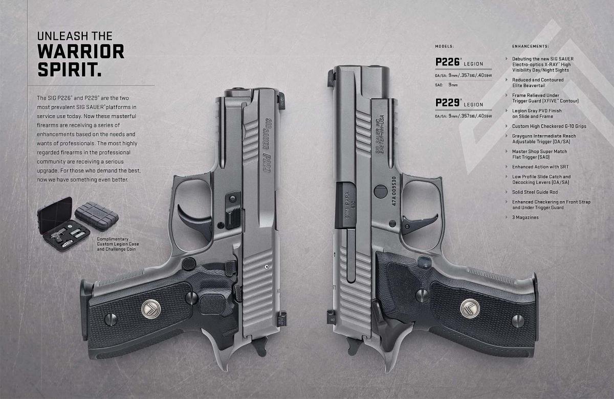 Pistole semiautomatiche SIG Sauer serie Legion