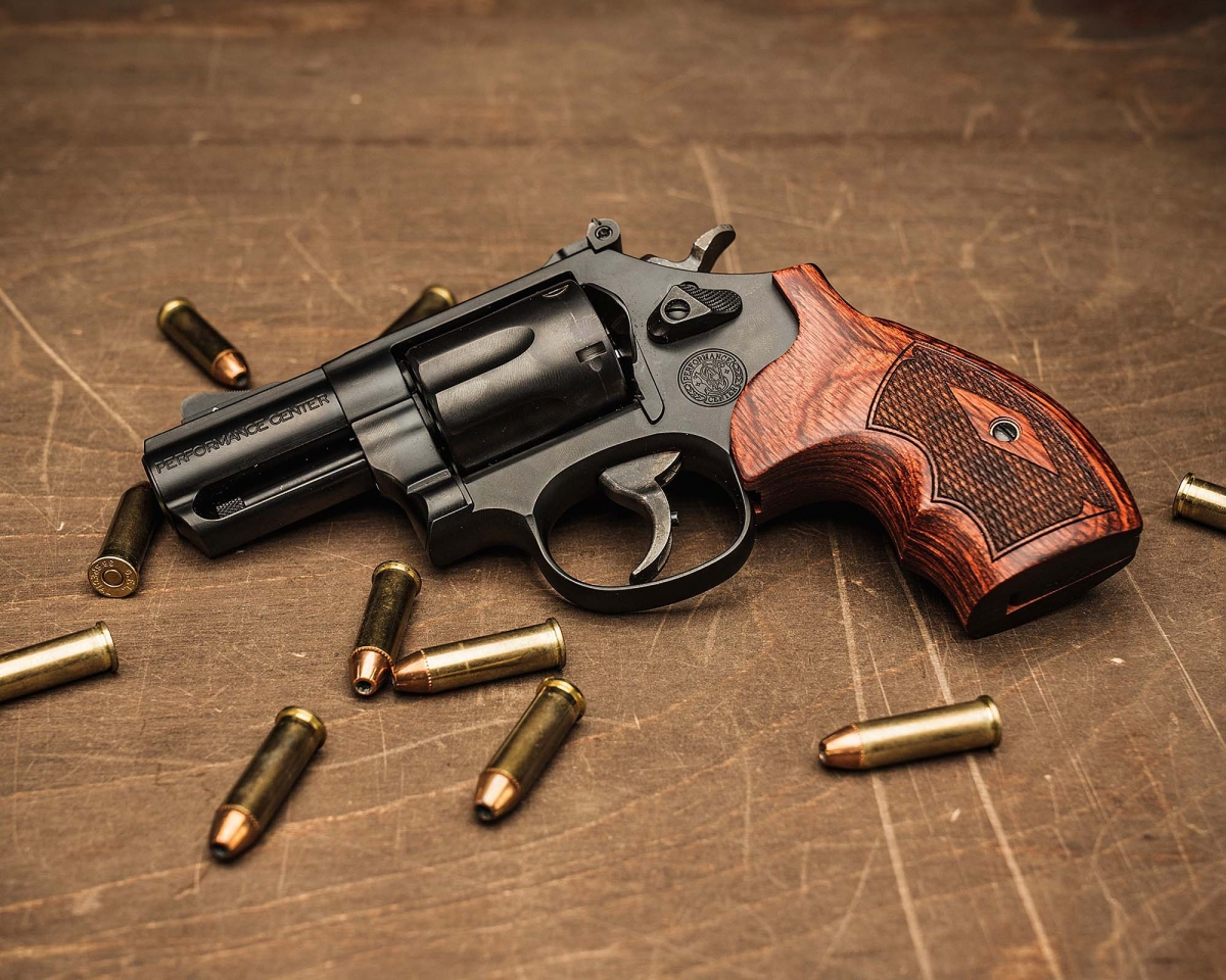 """The new version of the Smith & Wesson Model 19 Performance Center Carry Comp revolver features a 2.5"""" barrel and a PowerPort compensator, perfect to tame the snappy recoil of high-power .357 Magnum and .38 Special defensive loads!"""