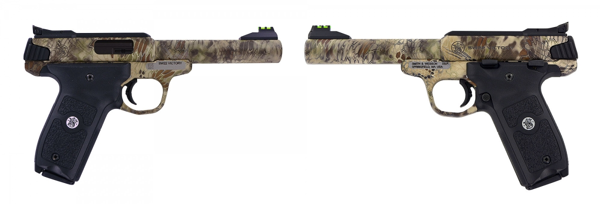 The SW22 Victory is also available with a Kryptek Highlander Camo Finish