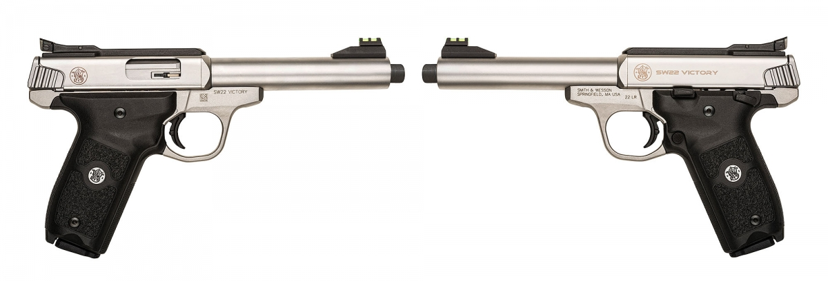 The SW22 Victory model with the threaded barrel