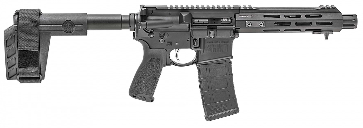 The right side of the Springfield Armory SAINT AR-15 Pistol