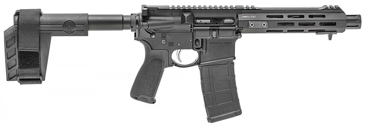 """Il lato destro della """"pistolona"""" Springfield Armory SAINT AR-15 Pistol"""