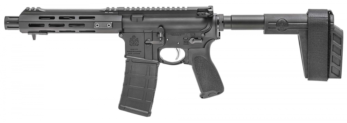 The Springfield Armory SAINT AR-15 Pistol, seen from the left side