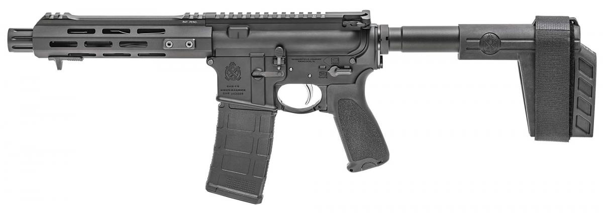 La Springfield Armory SAINT AR-15 Pistol vista dal lato sinistro
