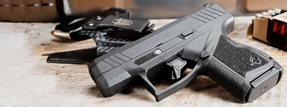 The GX4 is Taurus's first micro-compact pistol: a minimalist design, it offers a staggering 11-rounds capacity despite the diminutive size and weight