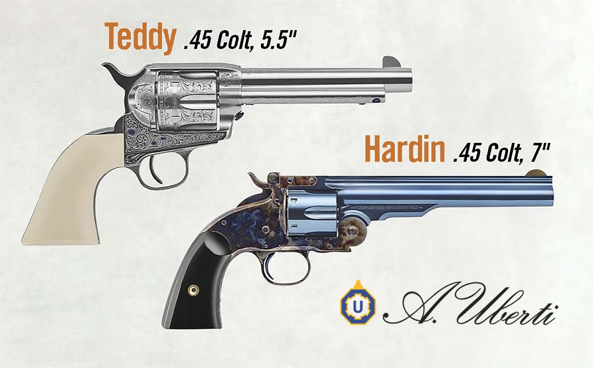 Uberti Hardin and Teddy revolvers