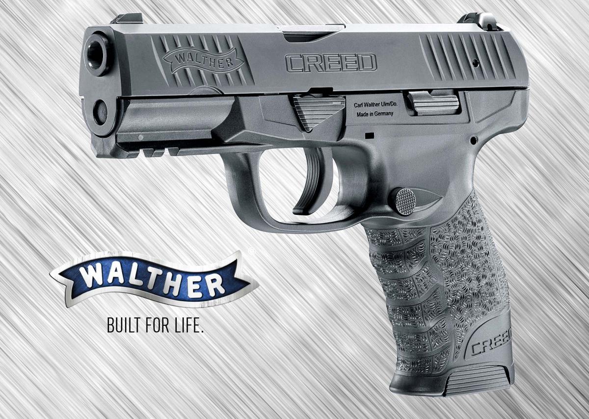 Il modello Creed è la nuova pistola semi-automatica da difesa-servizio presentata dalla Walther Arms