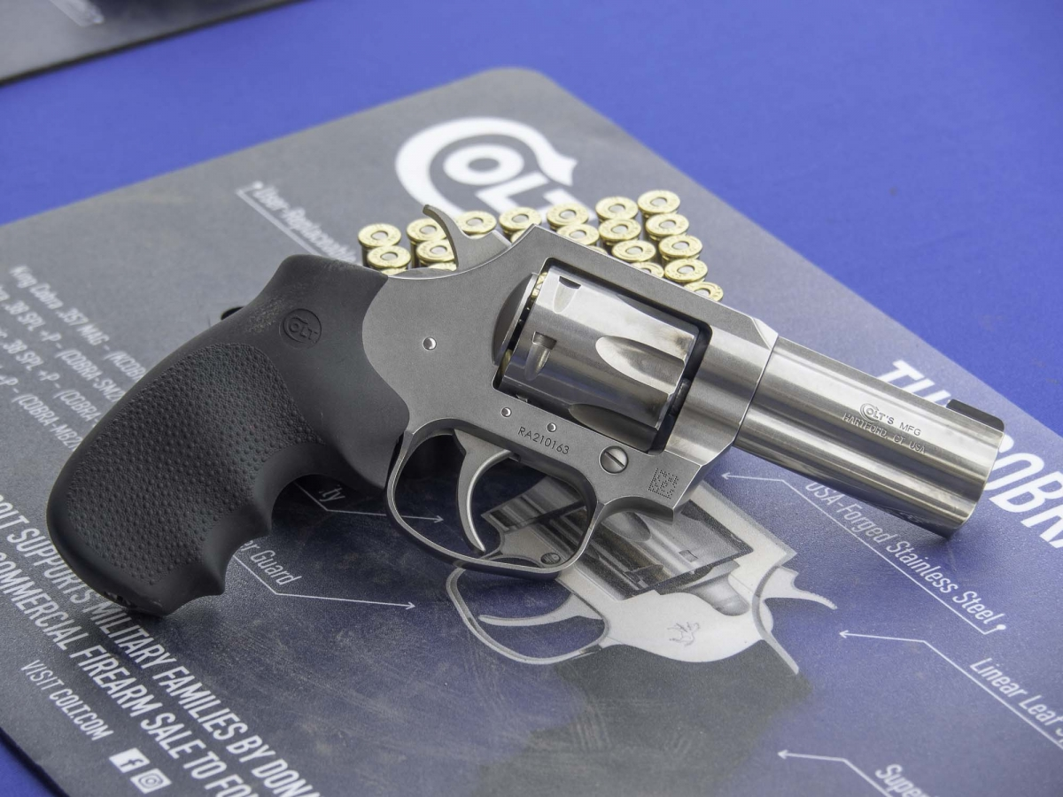 The Colt King Cobra revolver at the Industry Day in Las Vegas field range