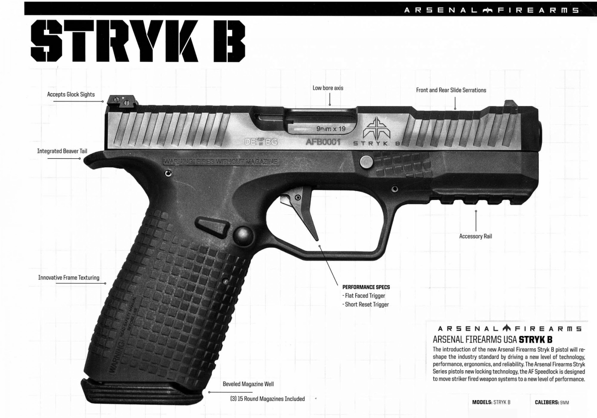 Arsenal Firearms Stryk B brochure