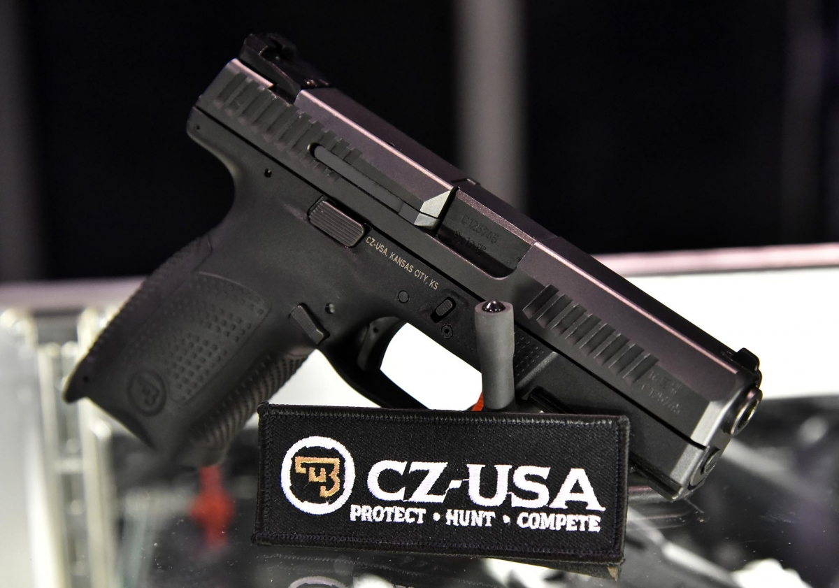 CZ showcased the P10C semi-automatic striker-fired pistol at the 2017 SHOT Show