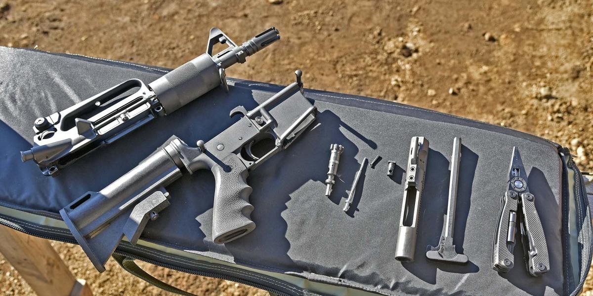 L'Olympic Arms K23B in smontaggio da campagna