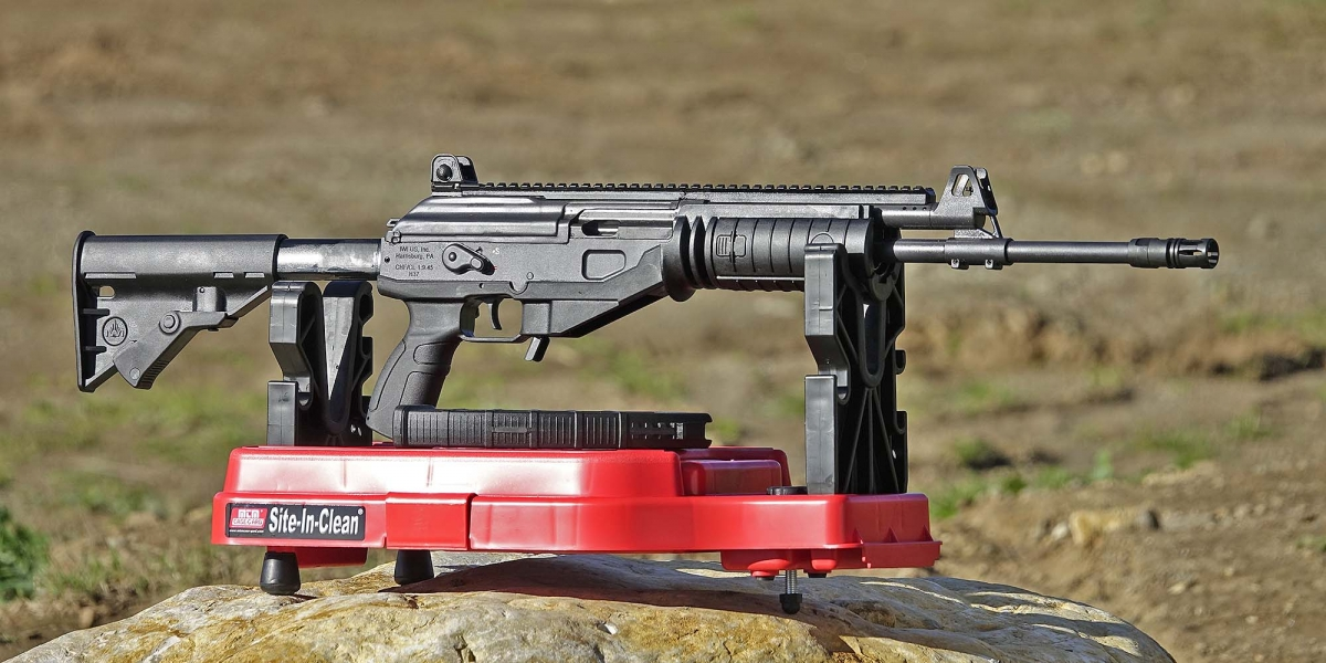 Side view of the IWI Galil ACE rifle