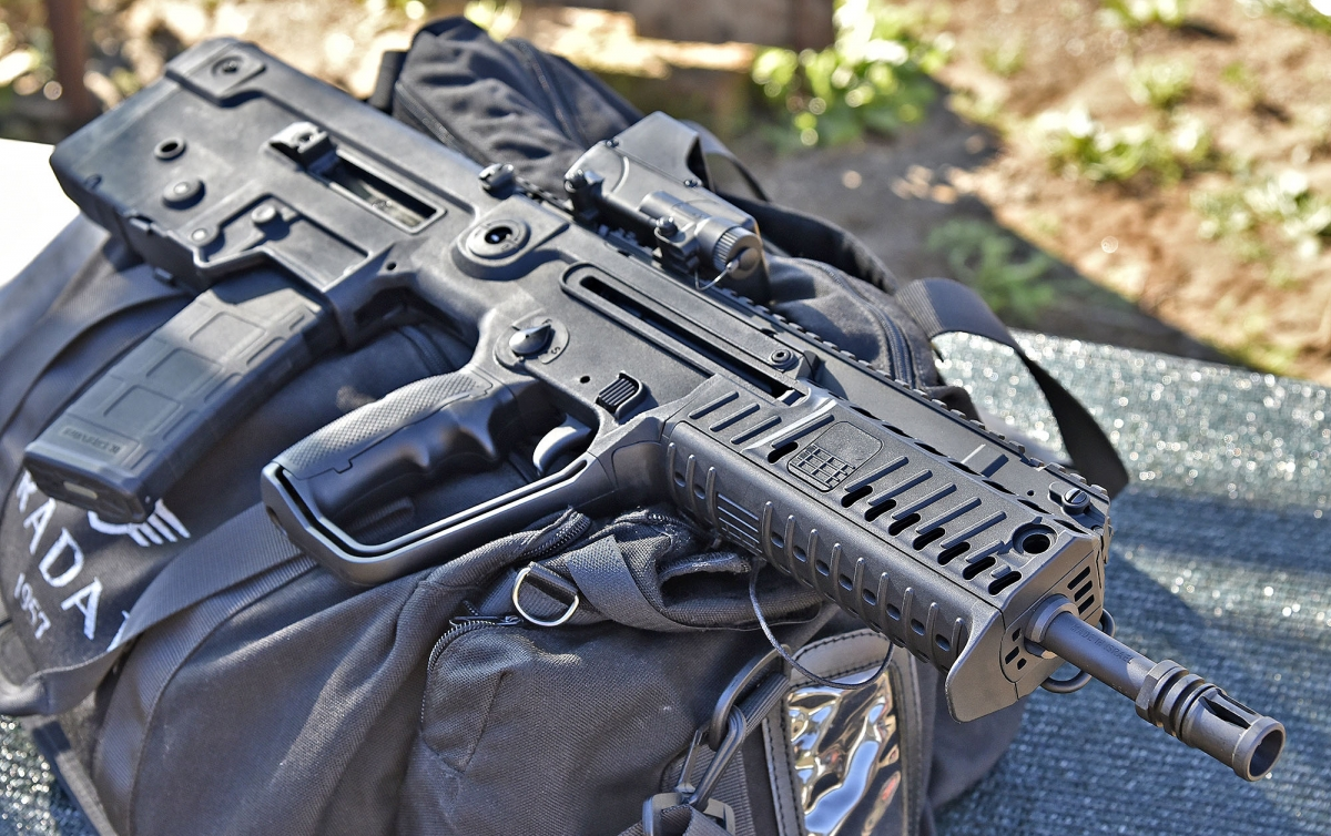 The design of the X95 semi-automatic rifle is definitely captivating