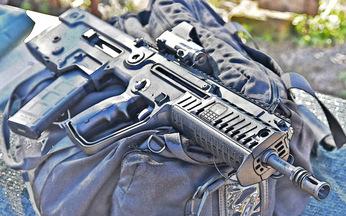 The IWI Tavor X95, in the semiauto version for the civilian market