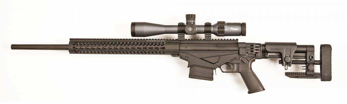 Vista sinistra dell'arma, con ottica SIG Sauer Tango6 3-18X44 Triplex-2P-ILL-SF-30 (opzionale) montata