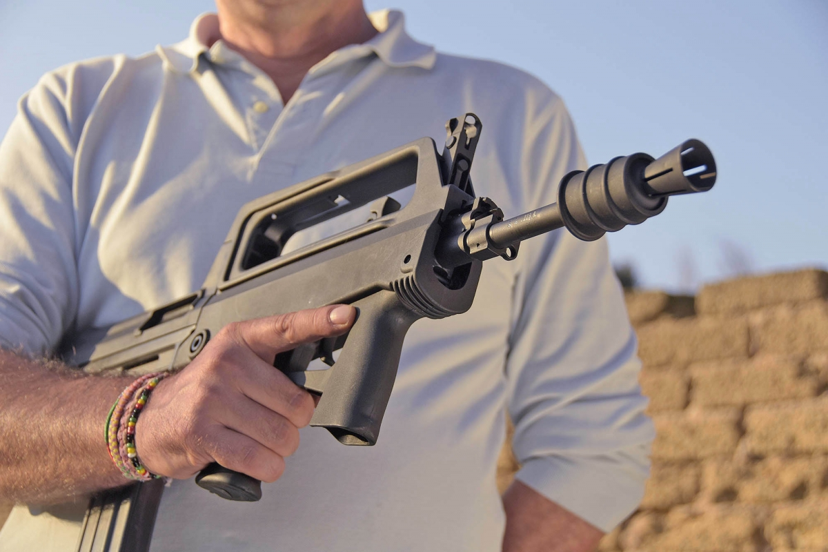 The M77 Commando is noticeably lightweight and handy, even for a bull-pup