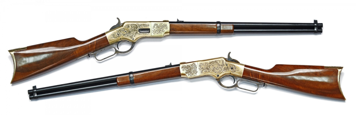 Winchester 1866 Yellowboy rifle - 150 Anniversaryengraved edition, realized by Uberti based on an early original model