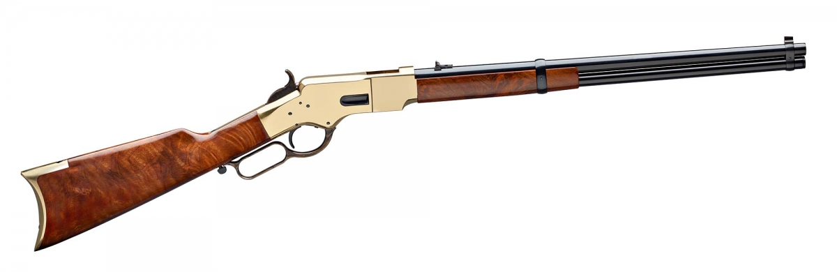 Winchester 1866 Yellowboy rifle - 150 Anniversary standard edition realized by Uberti based on an early original model