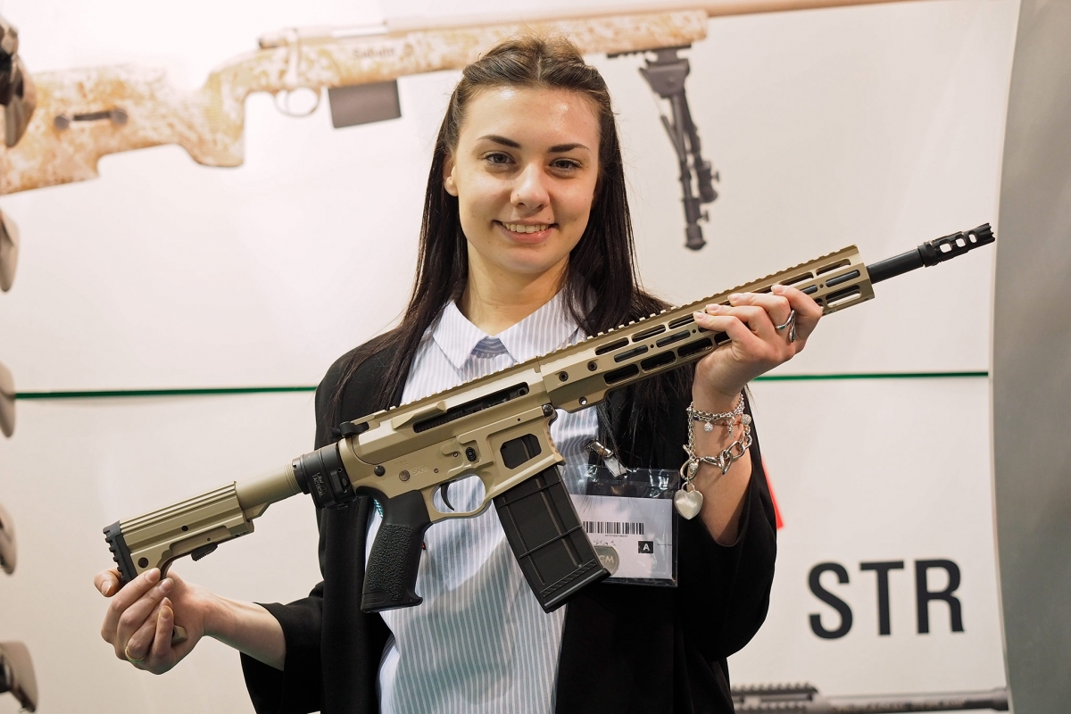 The Italian-based BCM Europearms S.r.l. company showcased the BCM-15 rifle at the 2017 edition of IWA OutdoorClassics