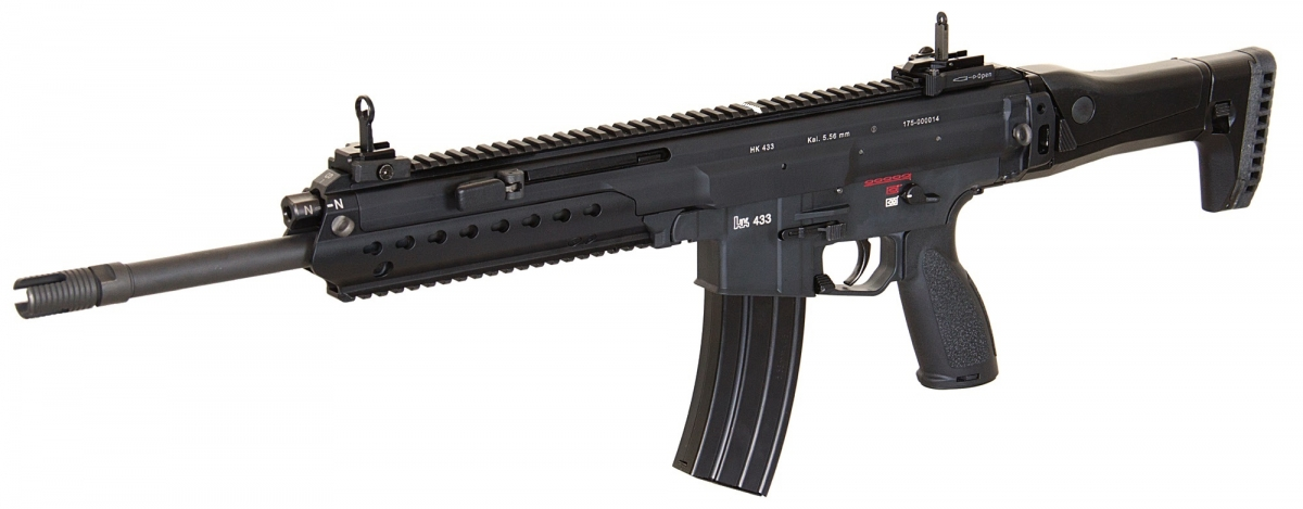 "Many consider the Heckler & Koch HK433 to be the designated ""heir"" of the G36 in German service"