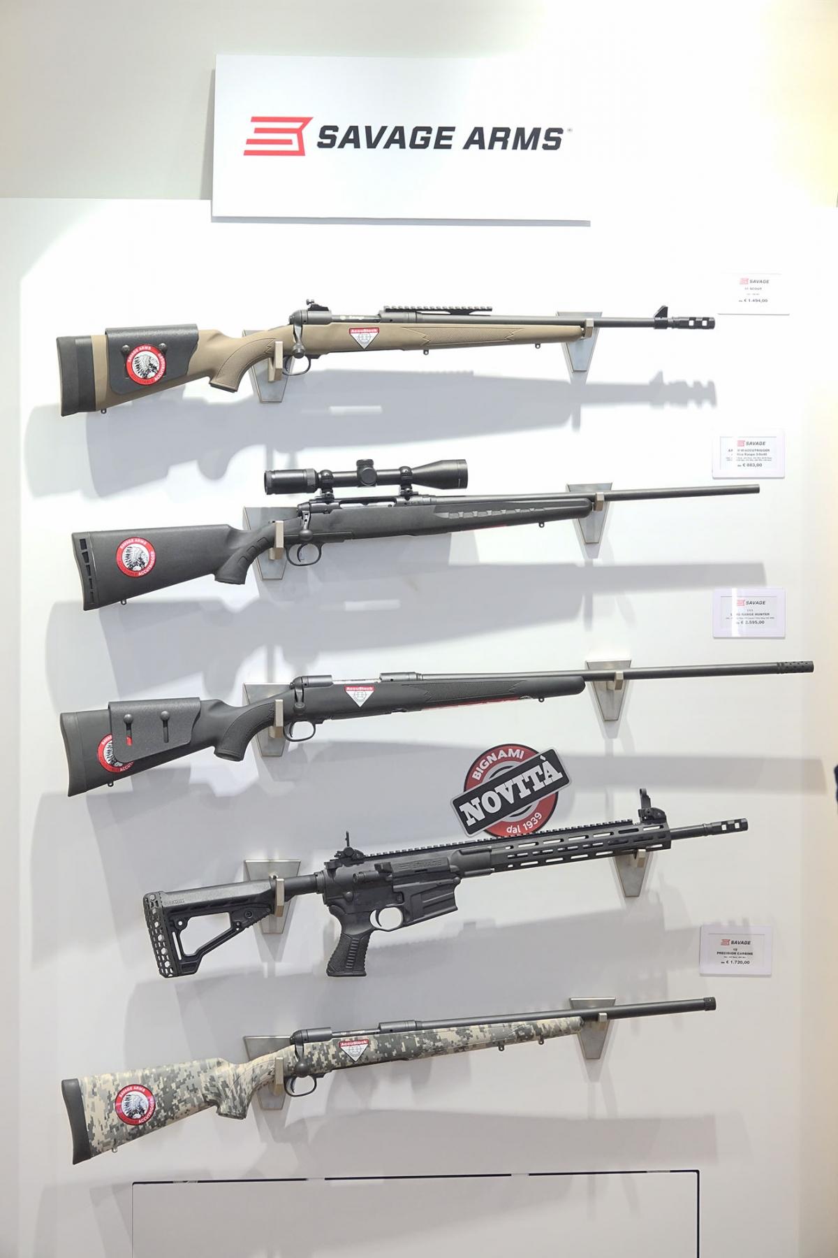 Bignami è distributrice in esclusiva per l'Italia di tutti i prodotti della Savage Arms