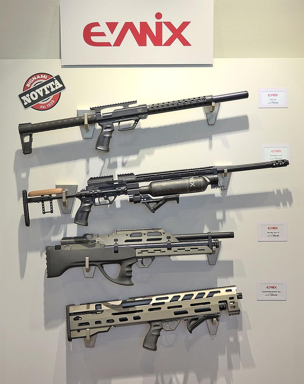 Le carabine ad aria compressa Evanix ad alto potenziale sono una novità assoluta per Bignami!