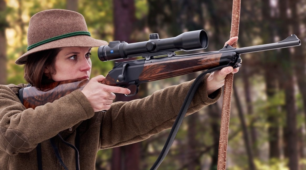 The Blaser R8 Compact was specifically conceived for women and smaller shooters