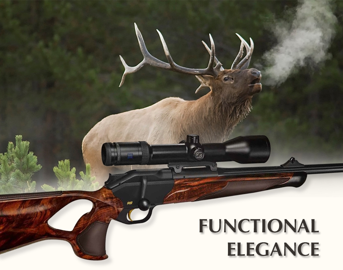 The Blaser R8 Success Individual combines, for the very first time, precious walnut wood and premium leather