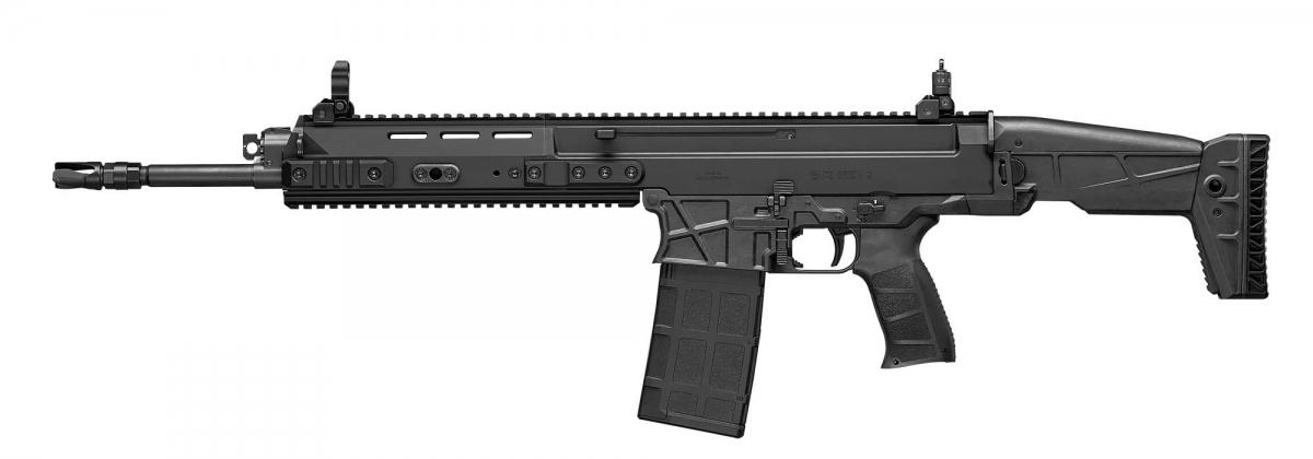Il lato sinistro del fucile CZ BREN 2 BR calibro 7,62x51mm