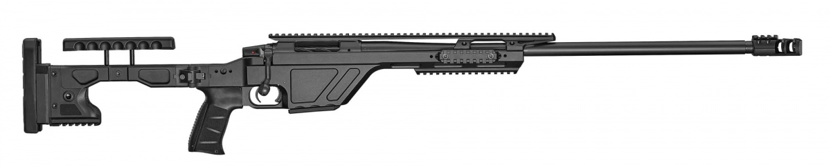 The new CZ TSR rifle, seen from the right side