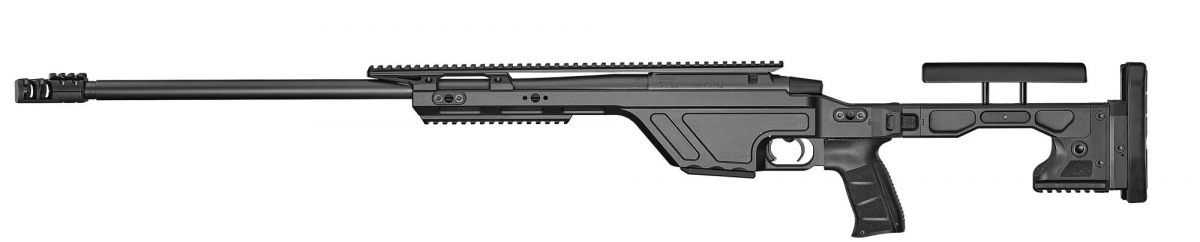 A left side view of the CZ TSR rifle