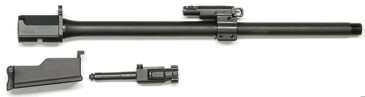 Replacing the barrel, bolt, magazine, and lower portion of the mag well, the user can convert the KAR-21 from 5-56mm/.223 to 7.62mm/.308, and vice-versa