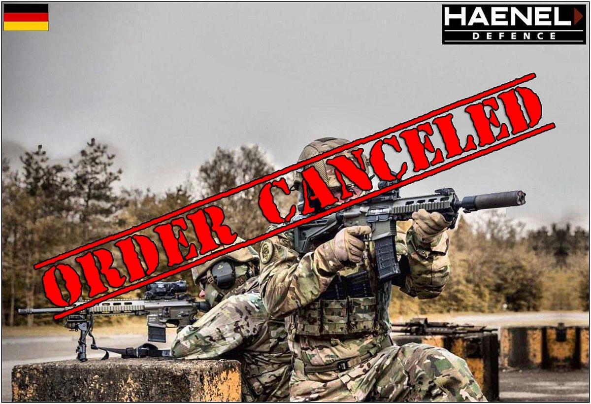 Haenel MK 556 order canceled by German Ministry of Defense!