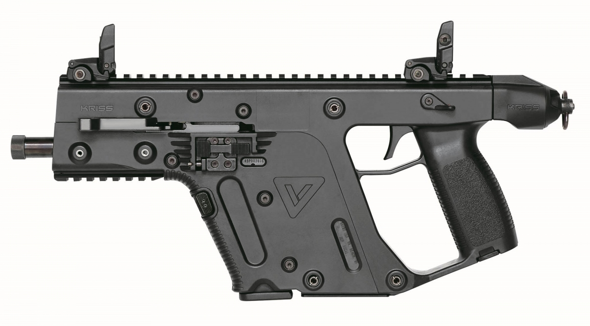 The Kriss Vector Gen.II SDP pistol in 10mm Auto is available either with or without an SB-tactical stabilizing brace