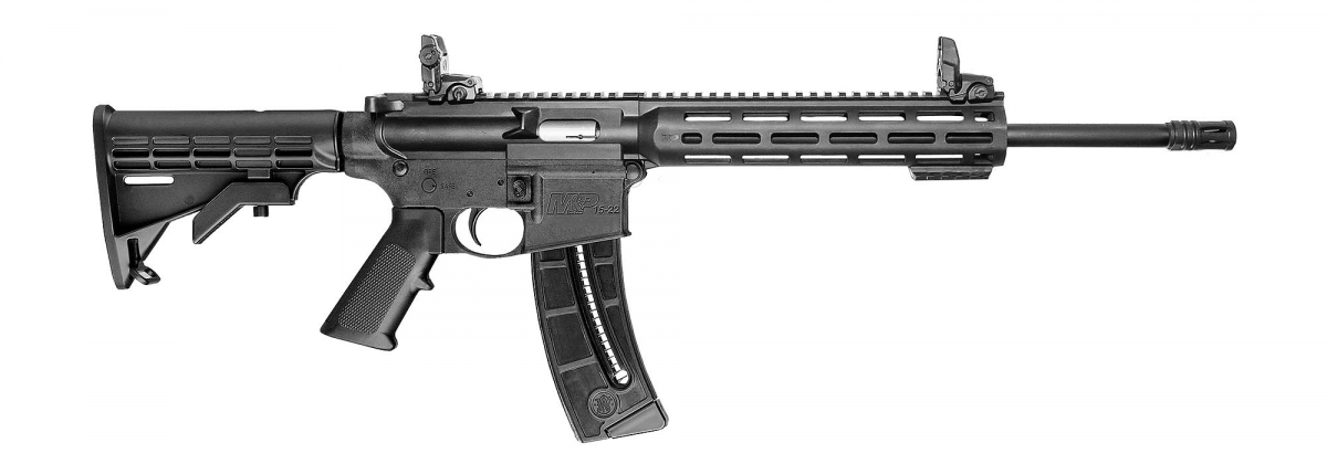 The standard look of the new generation of Smith & Wesson M&P 15-22 SPORT Rifles