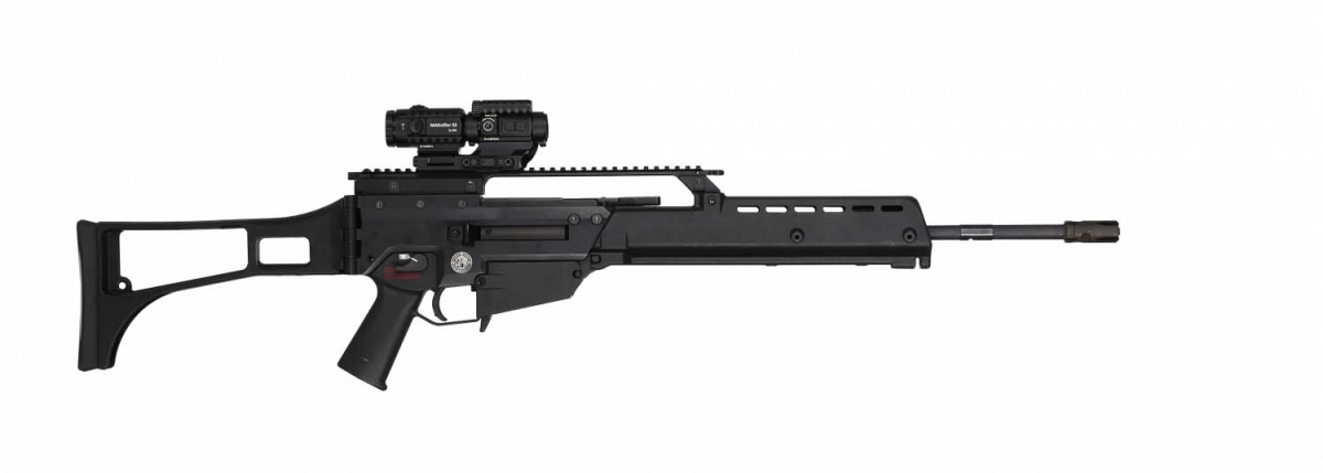 Steyr Arms G62 5.56x45mm NATO assault rifle – right side