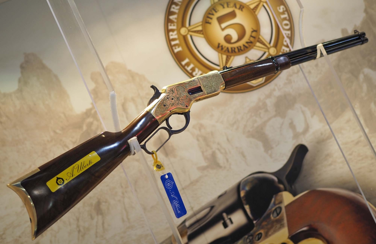 Uberti 1866 Yellowboy Engraved 150th Anniversary Edition