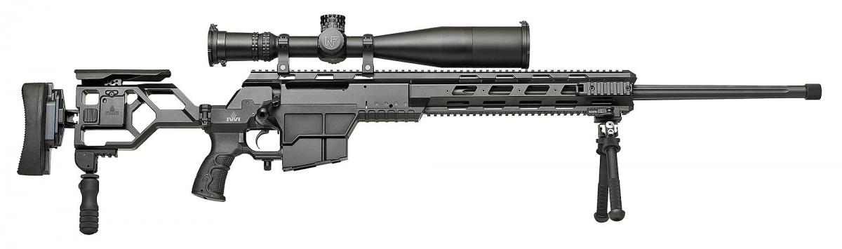 Side view of the IWI DAN .338 Lapua Magnum sniper rifle