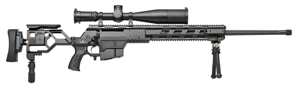 Side view of the IWI DAN .338 Lapua Magnum sniper rifle