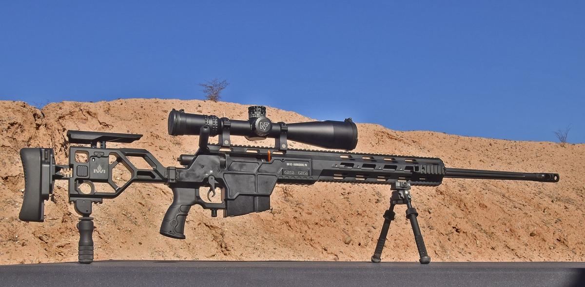 Lo IWI DAN .338 era fra le armi disponibili in prova durante la giornata dell'Industry Day at the Range
